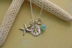 pictures of starfish jewelry | Baroni - Starfish & Sand Dollar Necklace - Necklaces - Jewelry - Lucky ...