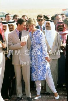 Diana, Princess of Wales and Prince Charles, Prince of Wales are taken to see a bedouin tent during a visit to Saudi Arabia Get premium, high resolution news photos at Getty Images Princess Diana Fashion, Princess Diana Pictures, Princess Diana Family, Royal Princess, Prince And Princess, Prince Charles, Charles And Diana, Lady Diana Spencer, Diane