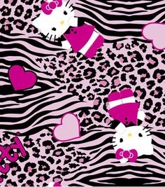 Sanrio Hello Kitty Animal Skin Flannel Fabric, , hi-res