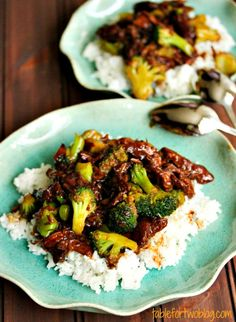 Take-Out, Fake-Out: Beef & Broccoli {Crockpot} - Table for Two