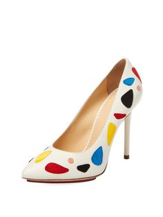 Modern Monroe Suede Pump by Charlotte Olympia at Gilt