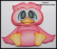 Premade Paper Pieced Owl for Scrapbook Pages by Babs | eBay