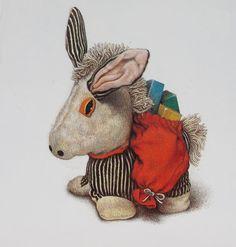 Перемена участи - Иллюстраторские техники. Jane Hissey - цветные карандаши.