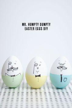 Cette année, je suis allée chercher l'inspiration sur Pinterest et j'ai trouver de jolis tutos pour décorer les œufs de Pâques !