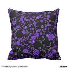 Fractal Crop Circle Throw Pillow
