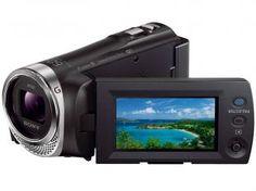 Filmadora Digital Full HD Sony HDR-PJ340 - Zoom Óptico 30x Wi-Fi Conexão USB Micro USB HDMI