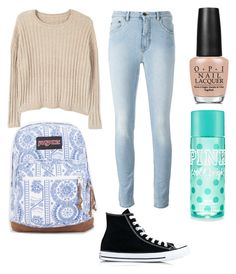 """""""Sister"""" by baileylovesvolleyball ❤ liked on Polyvore featuring MANGO, Converse, JanSport and OPI"""