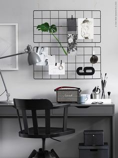 With the shop opening, blogging and design work my desk is overflowing and I've taken a shine to this new IKEA Alex Desk.