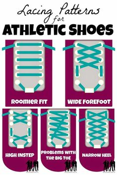 Athletic Shoe Lacing Techniques for Fit and Form #Infographic