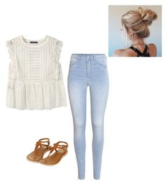 """""""spring outfit"""" by alexbetancourt on Polyvore featuring Violeta by Mango, H&M and Topshop"""