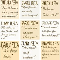 All the Peeta emotions :) CAUTION: possible spoiler alert!!!