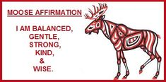 Animal Spirit Guide Moose Affirmation balancedwomensblog.com