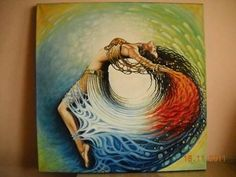 Beautiful bellydance painting.