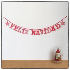 #Guirnalda tela Navidad