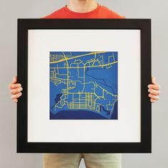 University of California, Santa Barbara | City Prints Map Art