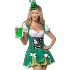 Sexy Irish green beer girl halloween costume We have soo many costumes! Don't buy from the expensive pop up stores...buy from us. If your not seeing what you want tell us what your looking for in a comment and we'll add a listing with what we have like it. Costumes can take a week to order some 2 weeks so order now before it's to late.... All our sizing is comparable to a normal costume store. Ask any questions you may have... Better pricing via Paypal. Other