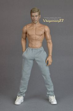 """1//6 Scale Orange Sport Sweatpants Pants For 12/"""" Action Figure Dolls Toys"""