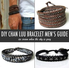 ice cream when the sky is grey: DIY Bracelet: Tips For Chan Luu Men's Style Leather Wrap