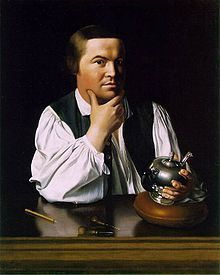 Paul Revere...I've seen this dozens of times and today it struck me as funny...kind of looks like Jack Black!