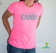 CANDY T-shirt, Performance Short Sleeve Ladies' Fitted or Unisex Fit Sparkly Glitter T-Shirt