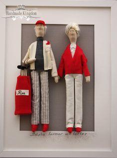 Retrato personalizado de muñeca Tilda, los amantes del Golf, unido a mano por Valeria Olsson