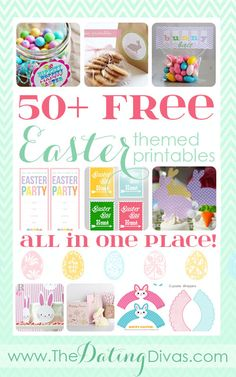 SO many Easter printables and all for FREE! www.TheDatingDivas.com