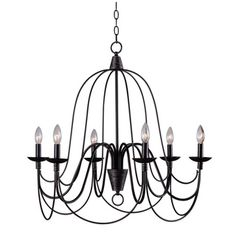Alma 6-light Bronze Chandelier | Overstock.com Shopping - Great Deals on Chandeliers & Pendants