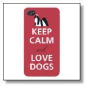 Apple Iphone Custom Case 4 4s  - Keep Calm and Love Dogs Maltese/Shih Tzu http://maltese-care.com/blog/dog-iphone-case