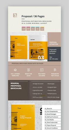 Creative project proposal template set layouts pinterest minimal design project proposal template saigontimesfo
