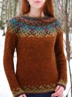 "Items similar to Lopapeysa ""Revontulet"". on Etsy - Pulli Sitricken Fair Isle Knitting Patterns, Fair Isle Pattern, Casual Sweaters, Sweaters For Women, Fair Isle Sweaters, Women's Sweaters, Punto Fair Isle, Fair Isle Pullover, Icelandic Sweaters"