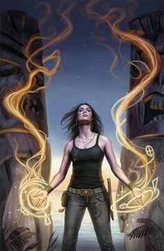 Lindsey Look cover art for Grim Tides, written by Tim Pratt