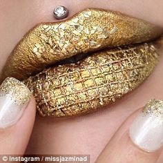 Gold bar: One of Jazmina's looks resembled a gold bar