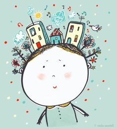 'Whimsical' - for Illustration Friday | Carla Martell