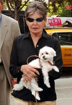 "Leona - ""Only the little people pay taxes"" - Helmsley and her Maltese dog Trouble"