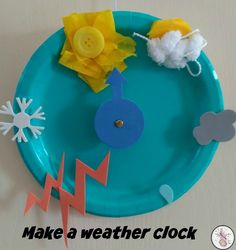 Weather Crafts With - Diary of a First Child Weather Kindergarten, Preschool Weather, Preschool Crafts, Nursery Activities, Toddler Activities, Preschool Activities, Toddler Crafts, Crafts For Kids, Montessori