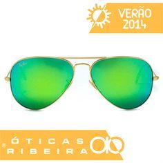 b7873d3d5114a Os óculos espelhados são a maior tendência deste verão! Este Aviador da Ray  Ban possui
