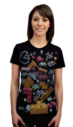 OVERDOSE OF PIXELS T-shirt by cleptoni from Design By Humans. The 3rd Place Winner of the 8-BIT contest took us on a nostalgic journey back to a time when video games were less complicated. Overdose of Pixels is a 3-D visual feast hosting all your gaming favorites. Its a gamers overdose tee  that will have all your buddies talking. Get this cool nerd friendly tee now.  for $20