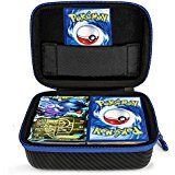 DOUBI Carrying case for Pokemon Trading Cards - Fits Up to 400 Cards, Including 1x Removable Divider,1x Carabiner