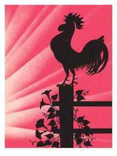 Chicken Art Poster at AllPosters.com