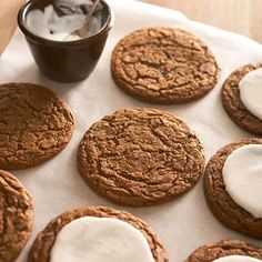 Giant gingerbread cookies are the perfect size for Santa's reindeer -- and your hungry family. The soft and chewy cookies get their spice from ginger, cinnamon, nutmeg, and cloves.
