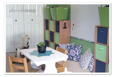 Organized playroom.