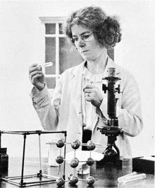 Kathleen Lonsdale was a crystallographer who established the structure of benzene in 1929, and hexachlorobenzene in 1931. During her career she attained a number of firsts for a female scientist.