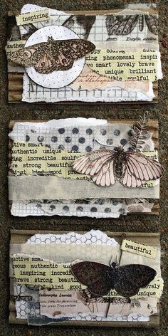 Cassandra Rae Nelson ATC (artist trading cards) Weekend Round-Up Atc Cards, Card Tags, Journal Vintage, Collage Vintage, Art Journal Pages, Junk Journal, Art Journals, Paper Art, Paper Crafts