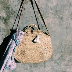 Moroccan Straw Bag | seavibedesign on Etsy