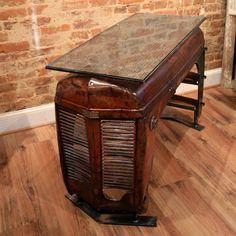 Otis Table by Yesterday Reclaimed | 50's Ferguson tractor hood