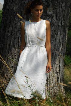 white dresses - Eboutique Linen day by Princesse des neiges