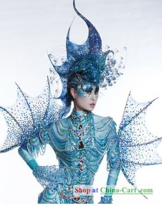 She looks like she comes from the kingdom of Glacialis, right? (no spoiler, but grab JUST FOR FINS!) #finfashion