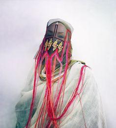 Damselfrau | COLLECTIF TEXTILE Jean Giraud, Textiles, Fashion Mask, Masks Art, Mask Design, World Cultures, Headdress, Costume Design, New Trends