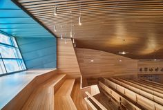 Built by Artytech2 in Pozuelo de Alarcón, Spain with date 2014. Images by Javier Orive. The Retamar School had a chapel for 250 persons, after 50 years of teaching activity and a capacity of more than 2.25...