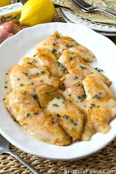 Pan Fried Tilapia with Lemon Thyme Butter Sauce - A Family Feast®